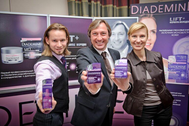 Dr. Peter Caspari bei der Produkteinführung DIADERMINE in Moskau
